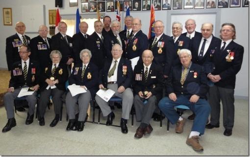Duke of Edinburg Awards 2013 recipients from Branch 122